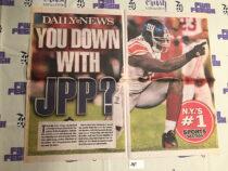 New York Daily News Cover – Super Bowl XLVI Coverage, Jason Pierre-Paul Giants vs. New England Patriots (2012) [J47]
