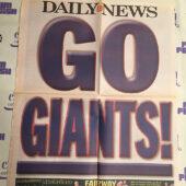 New York Daily News Insert – Super Bowl XLVI Coverage, Manning, Brady Caricatures Giants vs. New England Patriots (2012) [J49]