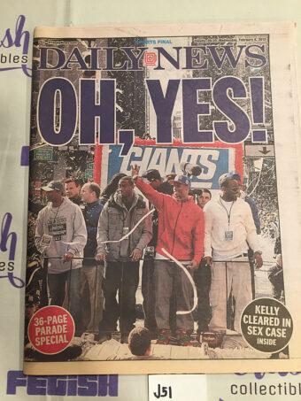 New York Daily News Insert – Super Bowl XLVI Winning Coverage, Eli Manning Giants vs. New England Patriots (Feb. 8, 2012) [J51]
