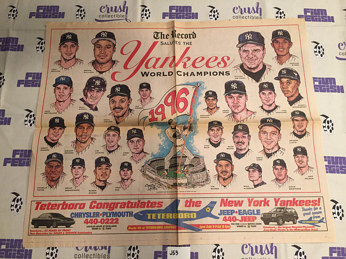 The Bergen Record Newspaper Photo Insert New York Yankees 1996 World Champions Major League Baseball [J53]