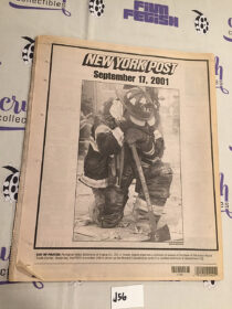 New York Post 911 Coverage Edition, Missing Heroes List (September 17, 2001) [J56]