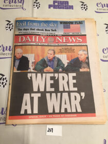 New York Daily News 911 Coverage Special Edition (September 16, 2001) [J57]