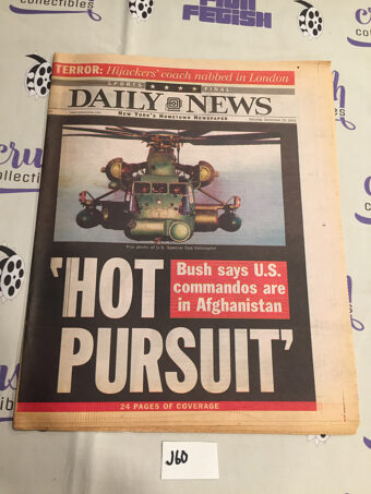 New York Daily News 911 Coverage Hot Pursuit (September 29, 2001) [J60]