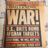 New York Daily News 911 Coverage Special Issue War (October 8, 2001) [J61]
