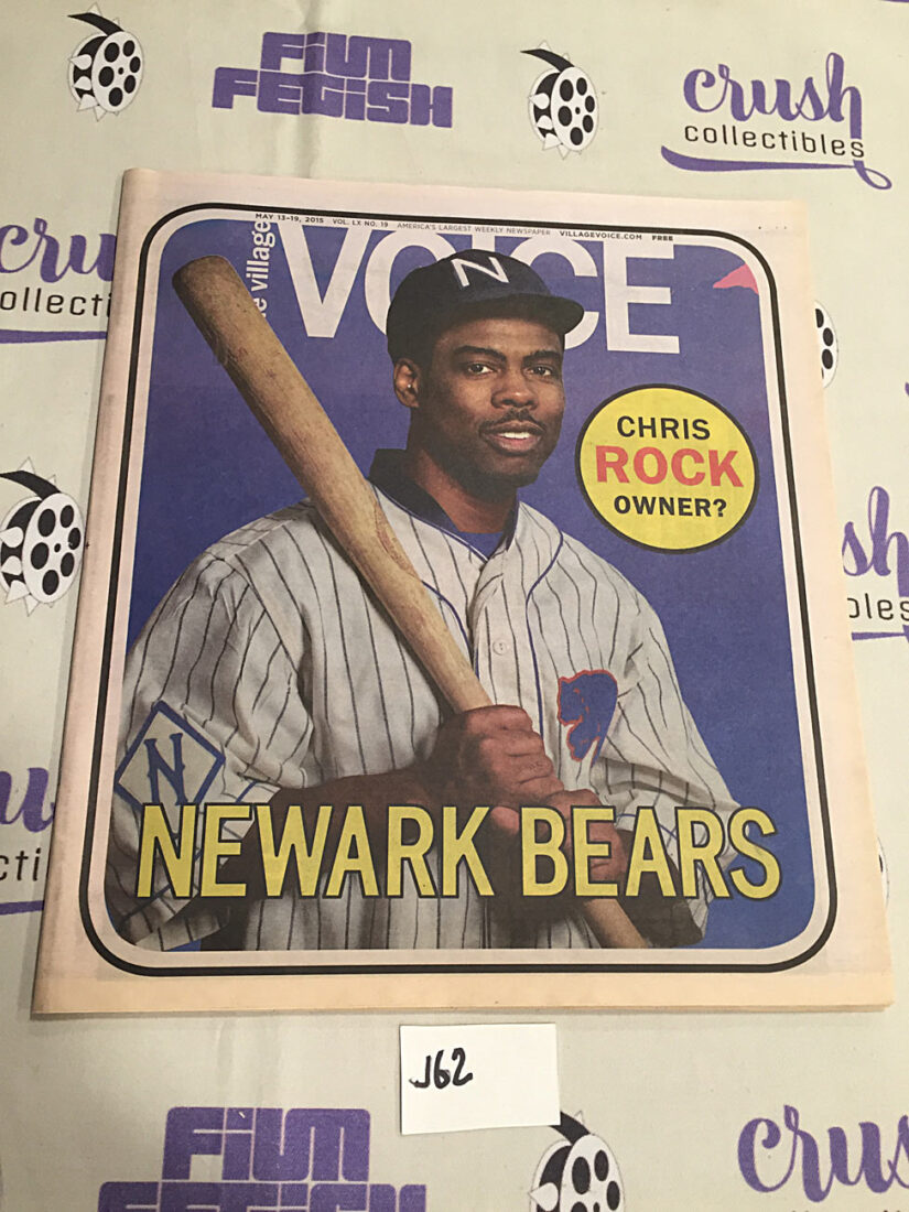 The Village Voice Chris Rock, The Newark Bears (May 13-19, 2015) [J62]