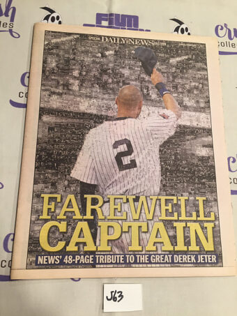 New York Daily News Special 48-Page Tribute Section Farewell Captain Derek Jeter (September 7, 2014) [J63]