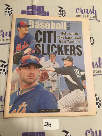 New York Daily News Baseball 2015 Special Section Mets Yankees (April, 2015) [J64]