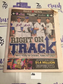 New York Daily News Baseball Preview Mets Yankees (March 31, 2017) [J66]