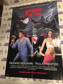 Saturday the 14th 26 x 40 inch Original Movie Poster (1981) [J37]