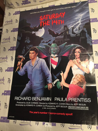 Saturday the 14th 26 x 40 inch Original Movie Poster (1981) [J37]