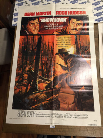 Showdown Original 27×41 inch Movie Poster (1973) Dean Martin, Rock Hudson Western [C58]