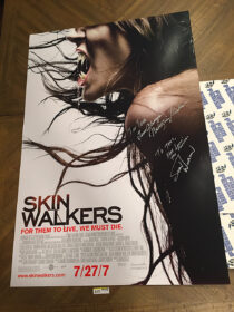 Skinwalkers Original 27×40 Double-Sided Movie Poster Signed by Stan Winston and Natassia Malthe (2007) [D15]