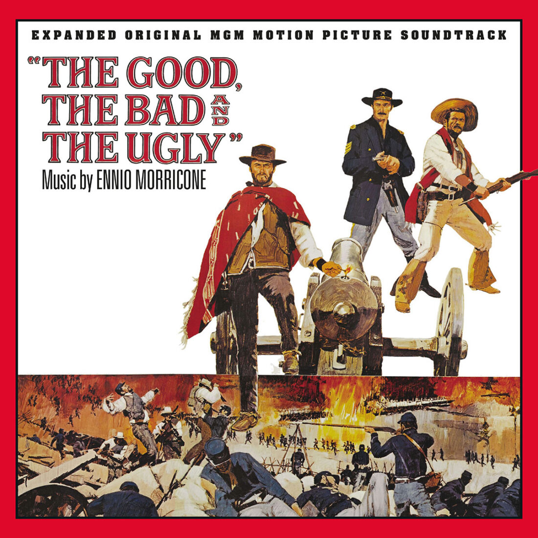 The Good, the Bad and the Ugly Expanded Ennio Morricone Original MGM Motion Picture Soundtrack 3-CD Set + Clint Eastwood Interview Booklet