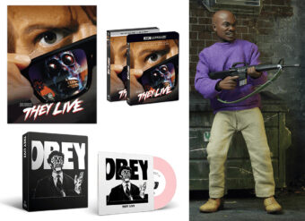 They Live Collector's Edition UHD 4K + NECA Action Figure + Poster + 7 Inch Vinyl Recording + Screen Printed Slipcase