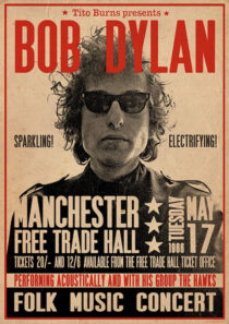 Bob Dylan Manchester 1966 Concert 24 x 36 inch Music Poster