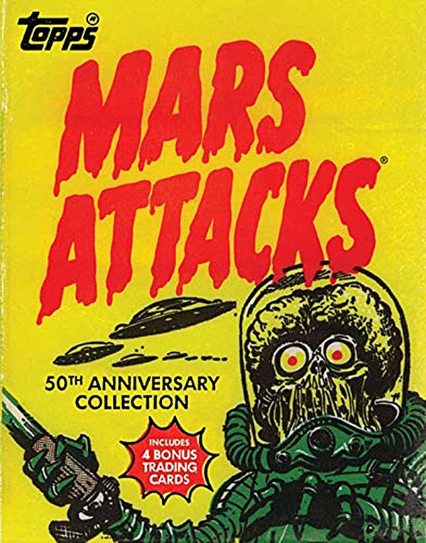 Mars Attacks 50th Anniversary Topps Trading Cards Collection Hardcover Book