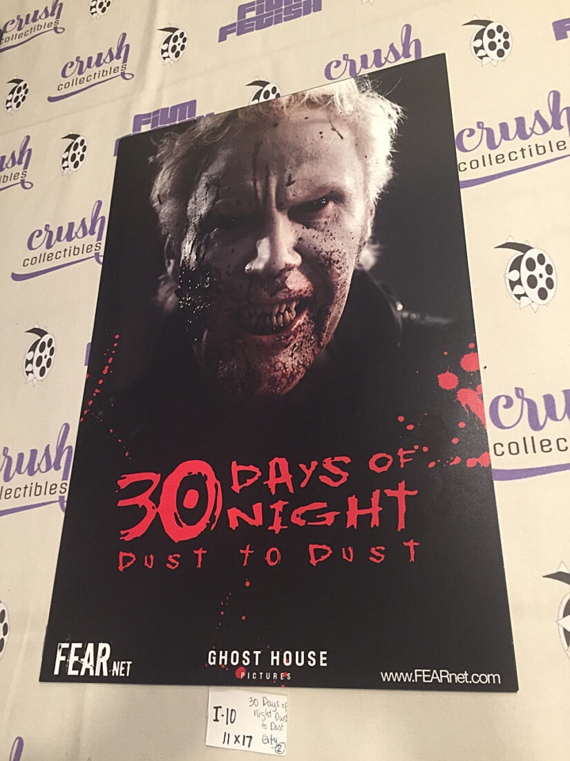 30 Days of Night: Dust to Dust (2007) 11×17 inch Promotional Poster [I10]