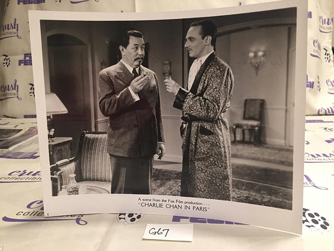 Charlie Chan in Paris (1935) 10×8 inch Original Lobby Card Press Photo [G67]