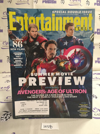 Entertainment Weekly (Apr 17/24, 2015, No. 1359/1360) Avengers: Age of Ultron, Robert Downey Jr., Chris Hemsworth, Chris Evans [H58]