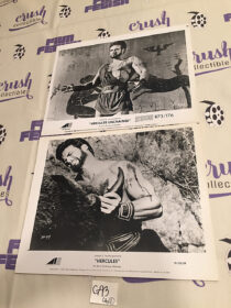 Set of 2 Hercules (1958) / Hercules Unchained (1959) Lobby Cards Steve Reeves [G93]