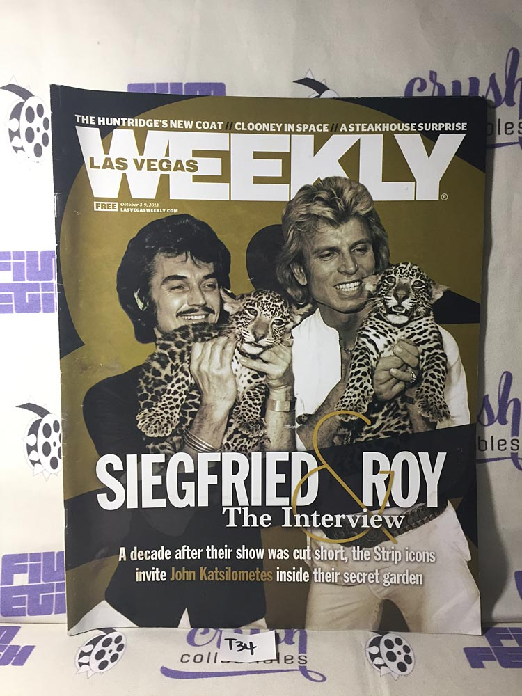 Las Vegas Weekly Magazine Siegfried and Roy Interview (October 3-9, 2013) [T34]