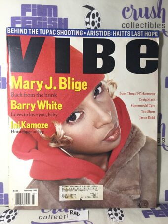 Vibe Magazine (February 1995) Mary J. Blige, Barry White, Ini Kamoze [R06]