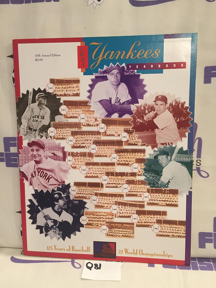New York Yankees 1994 Yearbook 45th Annual Edition [Q81]