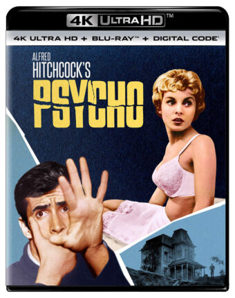 Alfred Hitchcock's Psycho 4K UHD + Blu-ray + Digital Edition with Slipcover