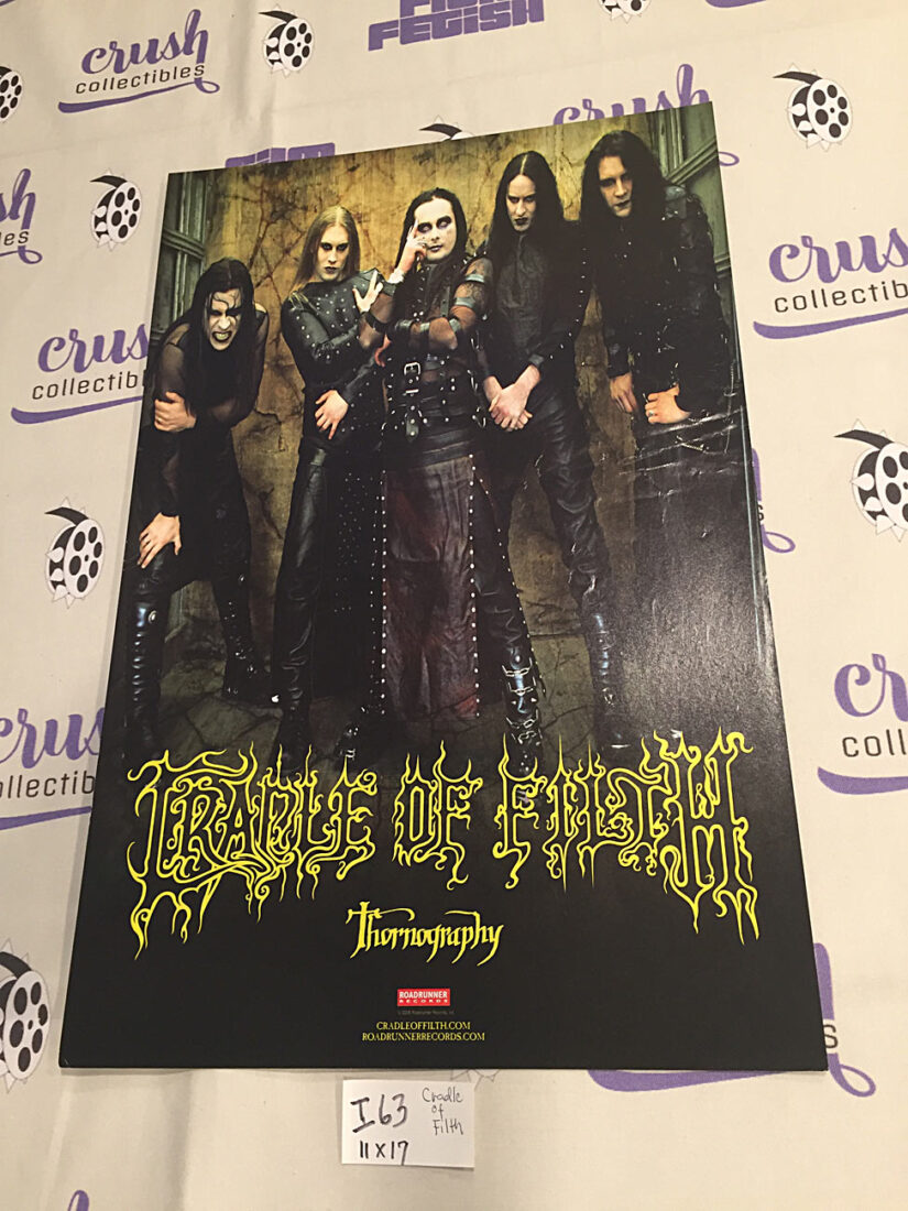 Cradle of Filth Thornography 11 x 17 inch Double-Sided Promotional Music Poster Roadrunner Records [I63]