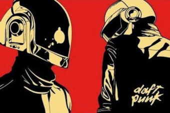 Daft Punk Red 36×24 inch Dance Music Poster