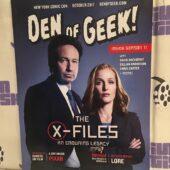 Den of Geek Special New York Comic Con Edition David Duchovny, Gillian Anderson Cover (October 2017) [Q77]
