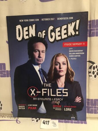 Den of Geek Special New York Comic Con Edition David Duchovny, Gillian Anderson Cover (October 2017) [Q77]