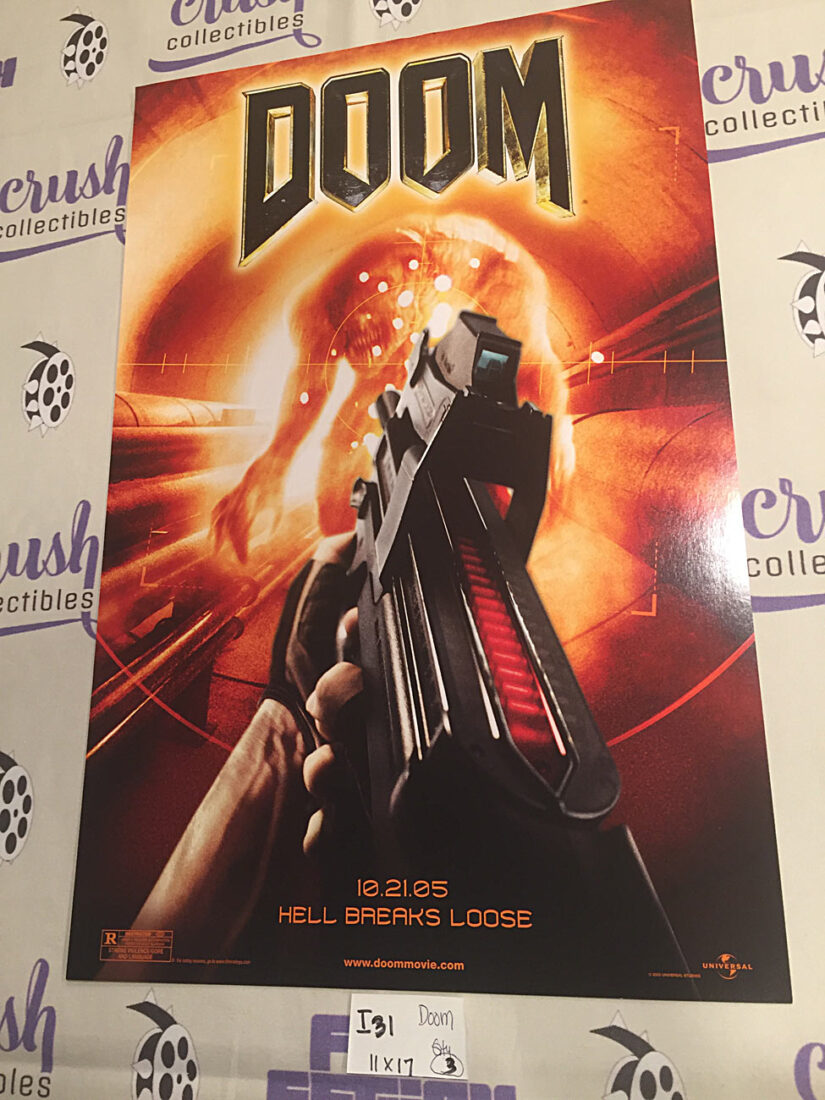 Doom 11 x 17 inch Promotional Movie Poster, Karl Urban, Dwayne Johnson [I31]