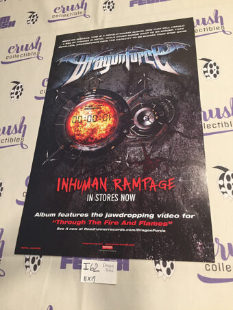 DragonForce Inhuman Rampage 11 x 17 inch Promotional Music Poster [I62]