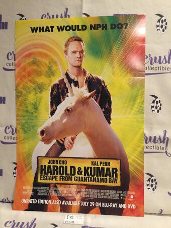 Harold and Kumar: Escape From Guantanamo Bay 13 x 20 inch Original Movie Poster [I82]