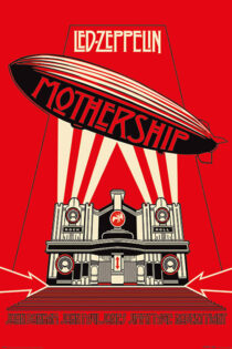 Led Zeppelin Mothership (Red Version) 24 x 36 inch Rock Music Concert Poster