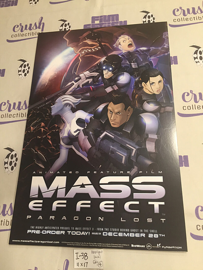 Mass Effect: Paragon Lost (2012) 11 x 17 inch Promotional Animated Feature Film Poster [I38]