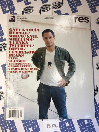 RES Magazine (Vol. 7 No. 6) Gael Garcia Bernal, Diplo, Saul Williams, Yutaka Tsuchiya [12126]