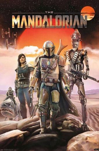 Star Wars The Mandalorian Group 22 x 34 inch Television Series Poster