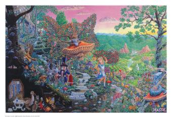 Alice in Wonderland Fairy Tale by Bob Masse 32×22 inch Art Poster
