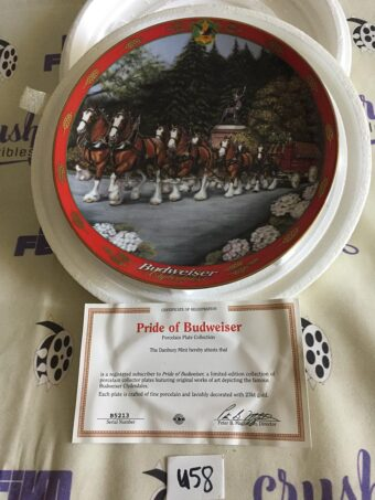 Budweiser Sunday Best by Susie Morton Limited Edition Collector Plate (2000) [U58]