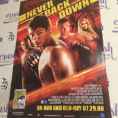 Never Back Down 13×20 inch San Diego Comic-Con Exclusive Movie Poster [I24]