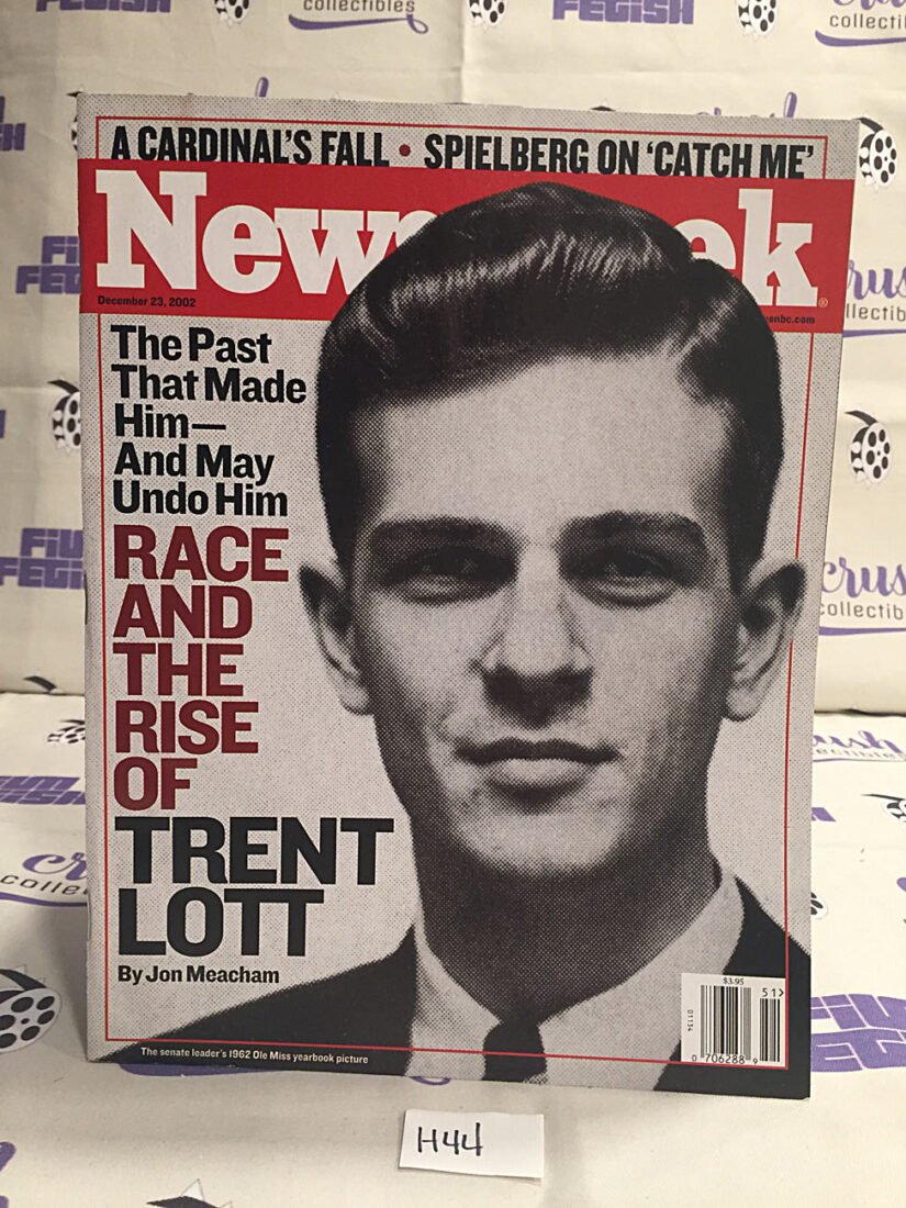 Newsweek Magazine (December 23, 2002) Trent Lott, Steven Spielberg [H44]