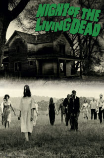 George A. Romero's Night of the Living Dead 24 x 36 Inch Green Letter Movie Poster
