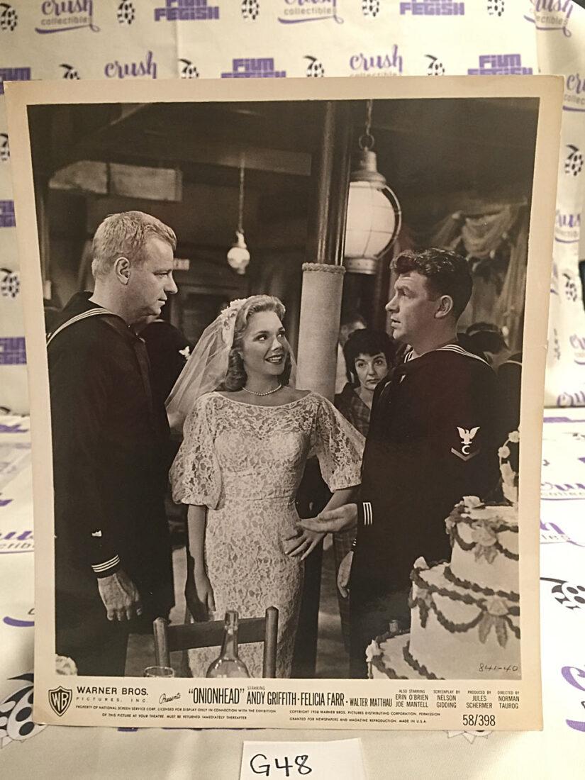 Onionhead Original 8×10 inch Press Photo Lobby Card, Andy Griffith, Walter Matthau [G48]