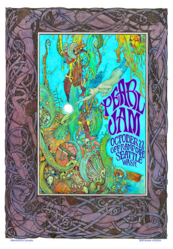 Pearl Jam Off Ramp Cafe Seattle, Washington (October 22, 1990) 17×24 inch Music Concert Poster