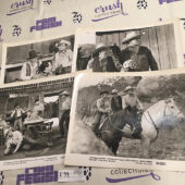 Gunslingers (4) Original 10×8 inch Press Photo Lobby Cards – Whip Wilson, Andy Clyde [F99]
