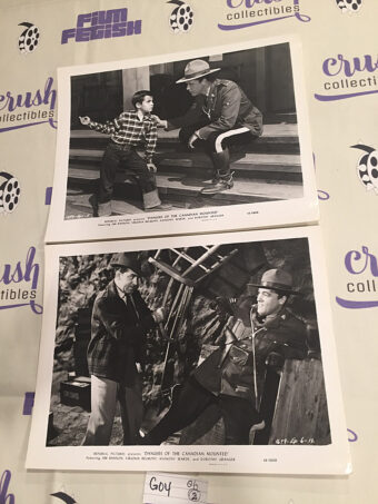 Dangers of the Canadian Mounted Set of 2 Original 10×8 inch Press Photo Lobby Cards [G04]