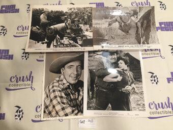 Mixed Set of 4 Original Western Movie Press Photo Lobby Cards [G07]