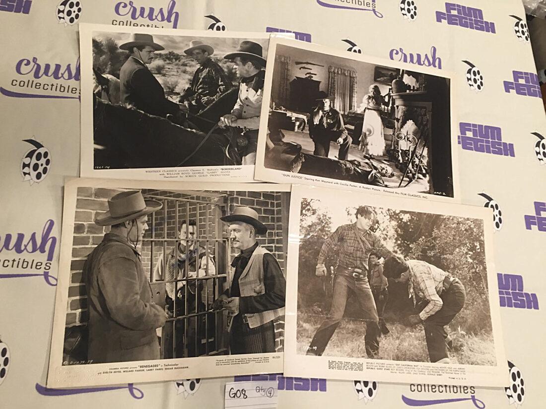 Mixed Set of 4 Original Western Movie Press Photo Lobby Cards [G08]